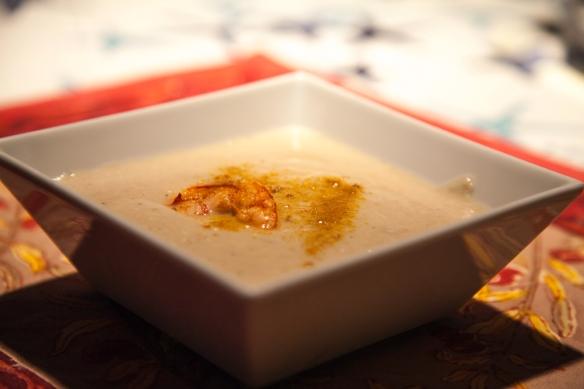 Crema di cavolfiori con Gamberi-2
